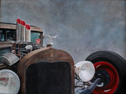 Rat Rod Painting Posters - Carls Rat Rod Poster by Omar Garza