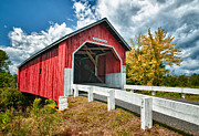 Covered Bridge Metal Prints - Carlton Bridge Metal Print by Fred LeBlanc