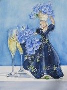 Sparkling Wine Painting Posters - Carman Poster by Jane Loveall