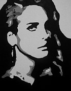 Lady Gaga Painting Prints - Carmen Print by Austin Puia