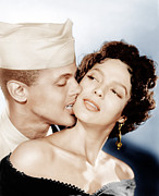1954 Movies Prints - Carmen Jones, From Left Harry Print by Everett