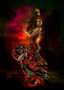 Flamenco Digital Art Prints - Carmen Print by Shanina Conway