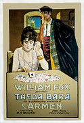 1910s Poster Art Framed Prints - Carmen, Theda Bara, Carl Harbaugh, 1915 Framed Print by Everett