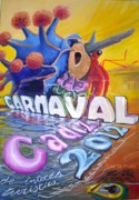Netherlands Paintings - Carnaval Cadiz 2012 by Paez De Pruna