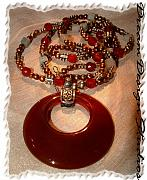 Sterling Silver Jewelry - Carnelian Pendant Necklace by Donna  Phitides