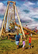 Amusement Park Framed Prints - Carnival - A long day of fun Framed Print by Mike Savad