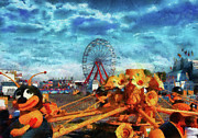 Fun Show Art - Carnival - Lets ride the ride  by Mike Savad