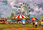Big Top Framed Prints - Carnival - Look at all the excitement Framed Print by Mike Savad
