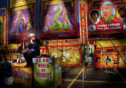 Freak Show Prints - Carnival - Strange Oddities  Print by Mike Savad