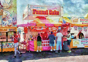 Suburbanscenes Framed Prints - Carnival - The variety is endless Framed Print by Mike Savad
