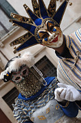 Venice Tour Prints - Carnival Costumes Venice Print by Bob Christopher