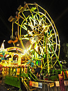 Carnival Ferris Wheel Print by Gregory Dyer