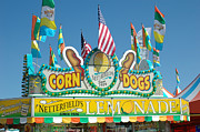 Summer Festival Art Posters - Carnival Festival Fun Fair Corn Dog Lemonade Stand Poster by Kathy Fornal