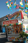 Fries Posters - Carnival Festival Fun Fair French Fries Food Stand Poster by Kathy Fornal