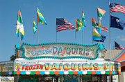 Cotton Candy Festival Art Prints - Carnival Festival Fun Fair Frozen Daiguiris Stand Print by Kathy Fornal