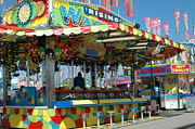 Cotton Candy Festival Art Prints - Carnival Festival Fun Fair Shooting Gallery Print by Kathy Fornal