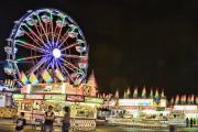 Lightning Decorations Photo Prints - carnival Fun and Food Print by James Bo Insogna