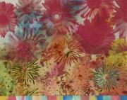 Fireworks Mixed Media Metal Prints - Carnival Metal Print by Gloria  Von Sperling