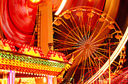 Ferris Wheel Framed Prints - Carnival lights  Framed Print by Garry Gay