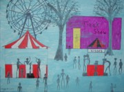 Rides Painting Originals - Carnival Mist by Gregory Davis