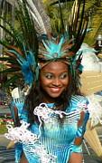 Carnival Moments. Blue Flower Print by Anna  Duyunova