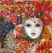 Portait Mixed Media - Carnival by Nalini Cook