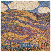 Autumn Landscape Paintings - Carnival of Autumn by Marsden Hartley