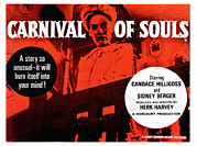 1960s Poster Art Framed Prints - Carnival Of Souls, British Quad Poster Framed Print by Everett