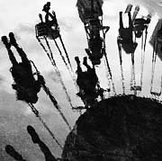 Puddle Prints - Carnival Swing Print by Adam Jeffery Photography