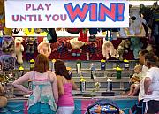 Gameroom Posters - Carnival Until you Win Poster by Ann Willmore