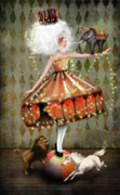 Circus Elephant Posters - Carnivale Poster by Jessica Grundy