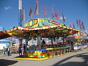 Summer Festival Art Prints - Carnivals Fairs and Festival Art  Print by Kathy Fornal