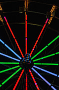Ferris Wheel Night Photography Framed Prints - Carny Night 2 Framed Print by Steve Harrington