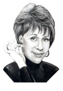 People Drawings Originals - Carol Burnett by Murphy Elliott