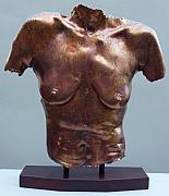Nude Sculpture Originals - Carol Copper Leaf by Wayne Berger