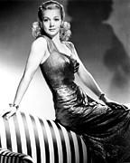 Publicity Shot Framed Prints - Carole Landis, Publicity Shot, Ca. 1943 Framed Print by Everett