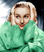 Ev-in Framed Prints - Carole Lombard, Ca. Late 1930s Framed Print by Everett