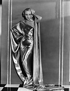 Gold Dress Framed Prints - Carole Lombard, In A Paramount Framed Print by Everett