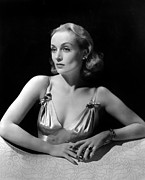 Colbw Framed Prints - Carole Lombard In Publicity For Vigil Framed Print by Everett