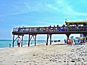 Dine Prints - Carolina Beach Tiki Bar Print by Joan Meyland