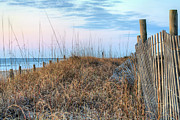 Sand Fences Prints - Carolina Pastels Print by JC Findley