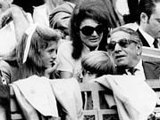 Onassis Framed Prints - Caroline Kennedy, John F. Kennedy Jr Framed Print by Everett