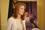 Archives Photo Metal Prints - Caroline Kennedy Speaking Metal Print by Everett