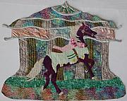 Horses In Art Tapestries - Textiles - Carosel Dreams by Dolores Fegan