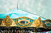 Fairgrounds Framed Prints - Carousel 3 Framed Print by Kim Fearheiley
