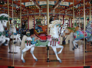 Toy Animals Framed Prints - Carousel Framed Print by Ann Horn