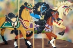 Go Go Paintings - Carousel Beauties by Debbie LaFrance
