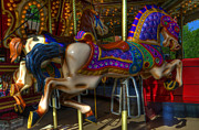 Fairgrounds Framed Prints - Carousel Beauties Going Away Framed Print by Bob Christopher