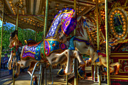 Fairgrounds Framed Prints - Carousel Beauties Ready To Ride Framed Print by Bob Christopher