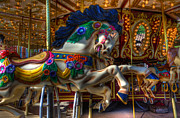 Fairgrounds Framed Prints - Carousel Beauty Ready To Roll Framed Print by Bob Christopher